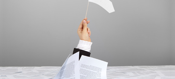 drowning-in-paperwork