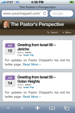 Pastor's Perspective Goes Mobile